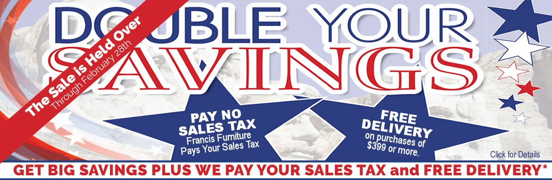 Double Your Savings Sale